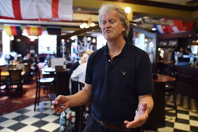 Founder of Wetherspoons Tim Martin has been widely criticised for refusing to pay staff until the government fulfils its promise to cover 80% of the wages of workers (Getty Images)