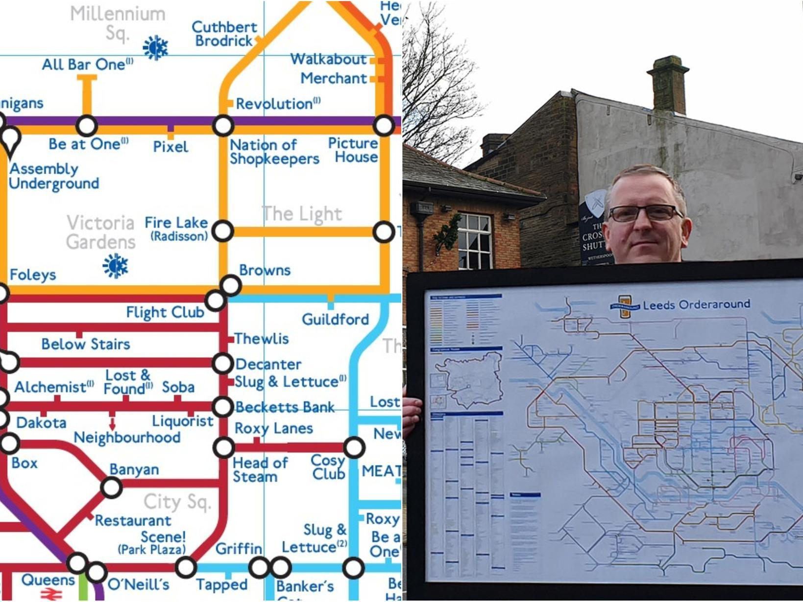 Check out this incredible map of over 600 Leeds pubs in the style of the London Underground diagram