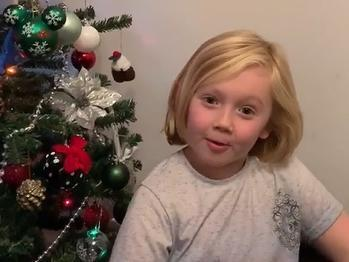 Adorable Yorkshire schoolboy with incredible accent wishes readers a Merry Christmas