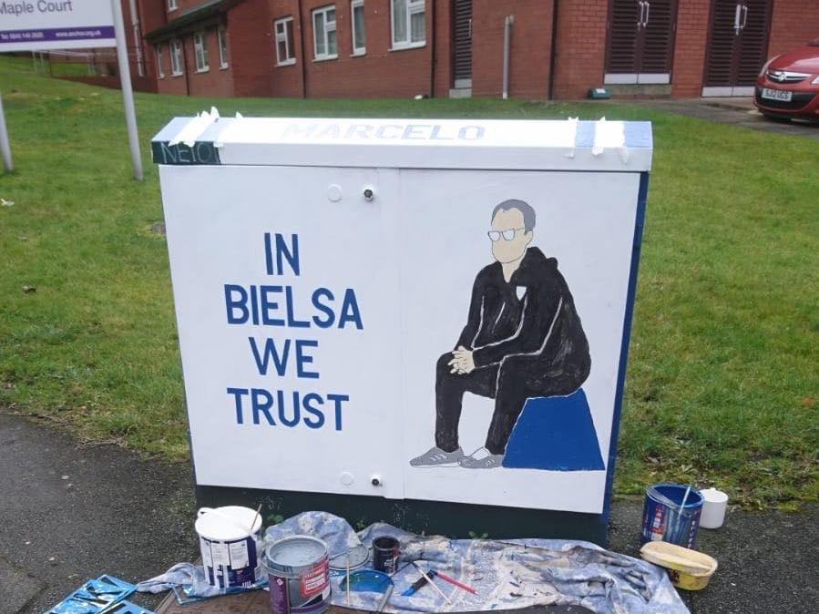 'In Bielsa We Trust': The 'Burley Banksy' set to appear on Match of the Day after painting tribute to Leeds United manager