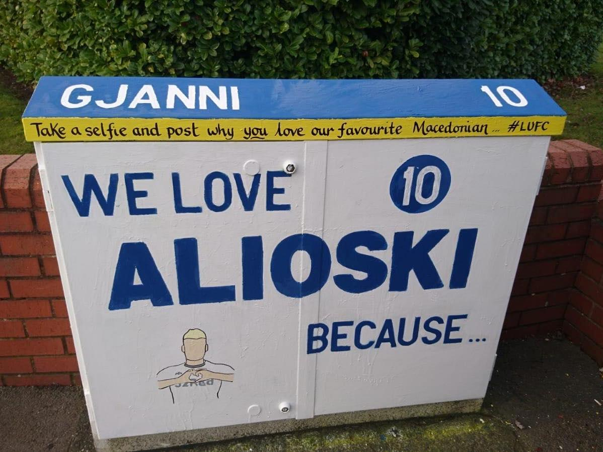 'We love Alioski': 'Burley Banksy' paints tribute to Leeds United star Ezgjan Alioski