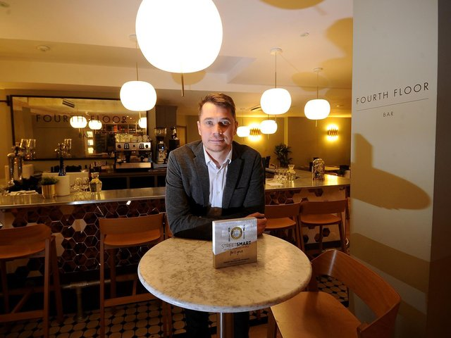 Phil Lockwood, the hospitality manager at Harvey NIchols Leeds.