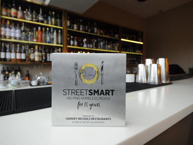 The award which has been presented to the Leeds branch of Harvey Nichols for being one of the biggest supporters of the StreetSmart scheme.