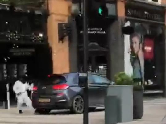 Watch terrifying moment masked men raid Leeds jewellers as armed robbery CLOSES County Arcade