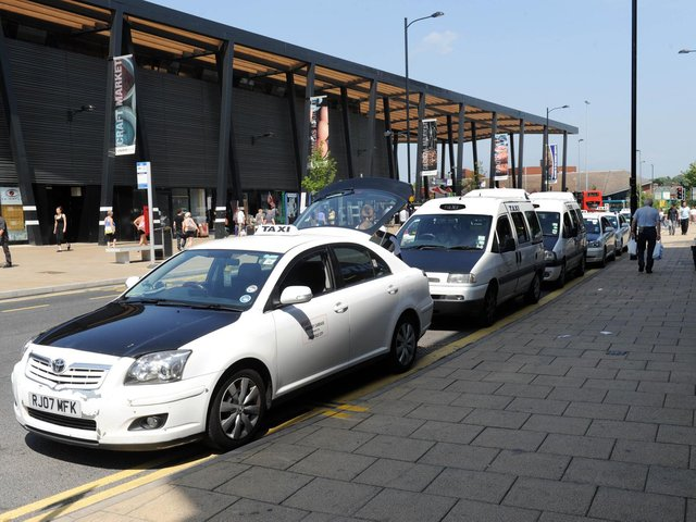 A group of taxi drivers in Wakefield plan to strike today (stock photo)