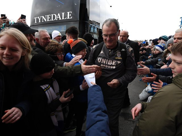 Marcelo Bielsa greeted by fans at Elland Road (Pic: Getty)
