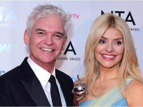 Phillip Schofield with co-presenter Holly Willoughby