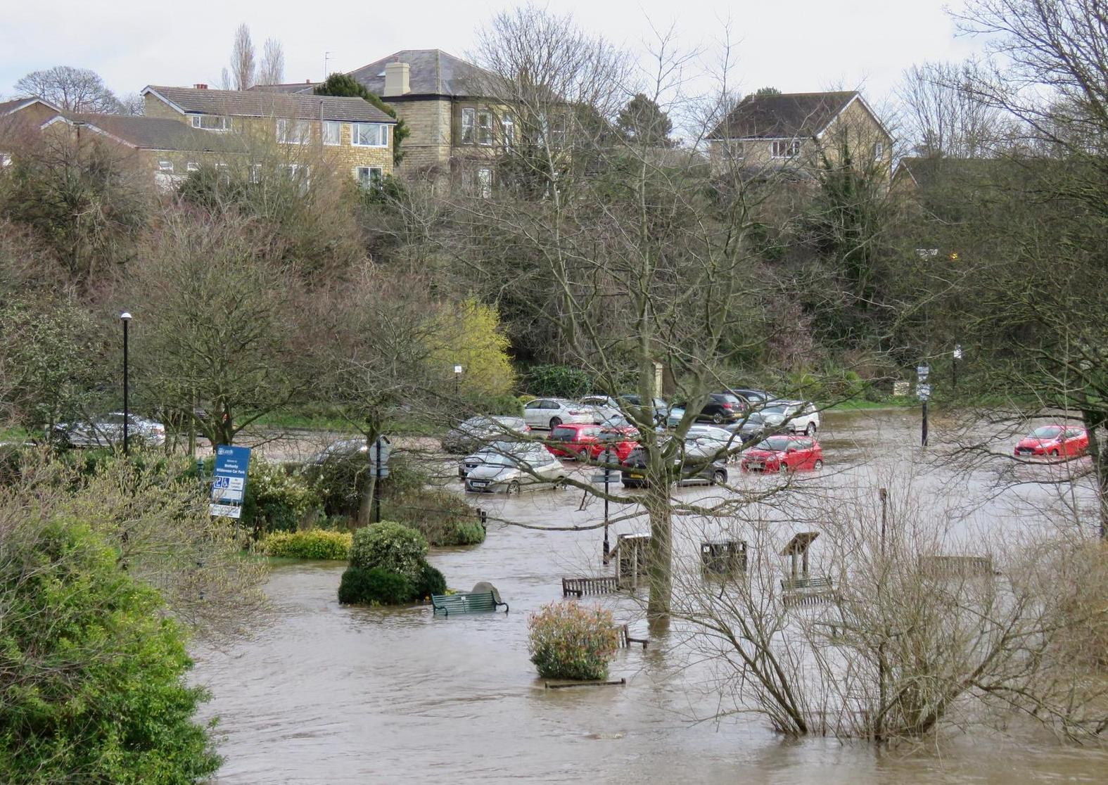 Drivers warned to move cars as Wetherby hit by flooding