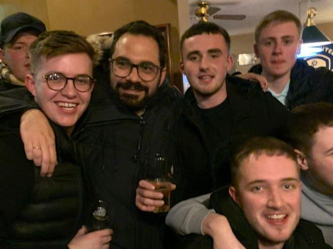 Brilliant clip shows Victor Orta celebrating with fans in The Duncan pub after Leeds United's win over Reading