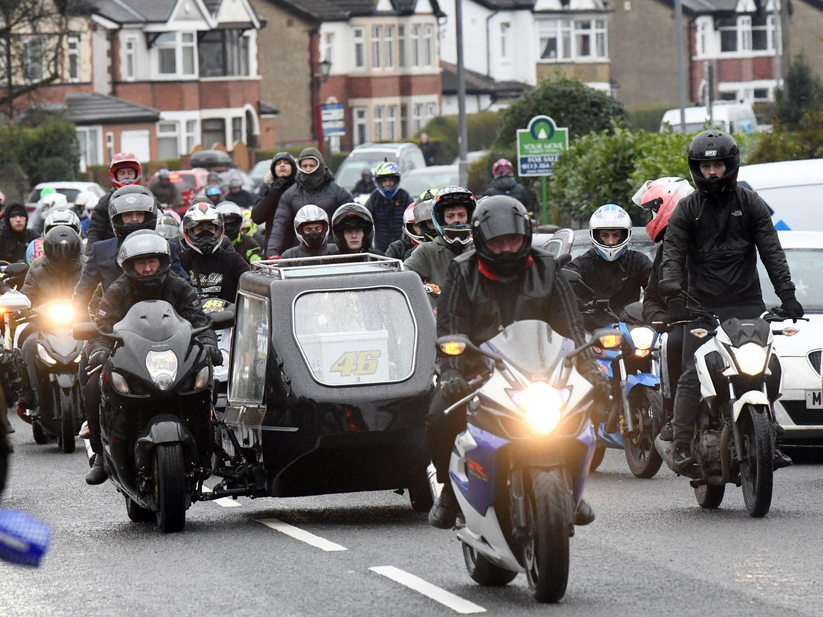 'The most perfect boy': Hundreds of bikers take to Leeds streets to honour 19-year-old biker on 'his final ride'