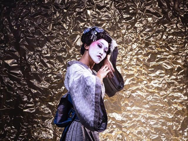 Minju Kang in Geisha. PIC: Guy Farrow