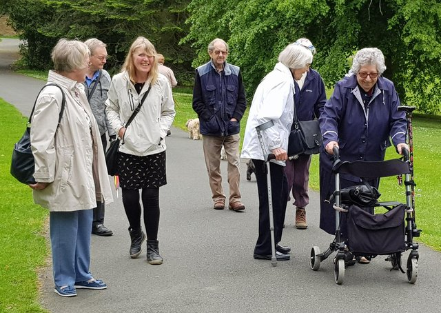 Cross Gates & District Good Neighbours' Scheme runs walking groups to keep older people active.