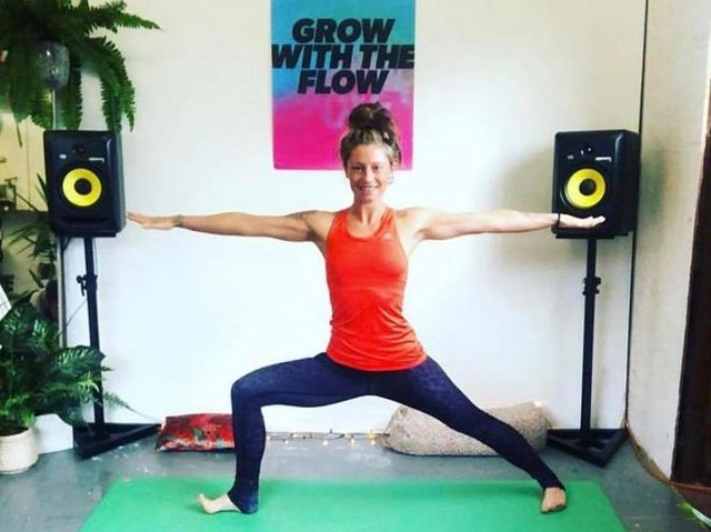 Polly Standeven, 34, has launched free online yoga classes during the coronavirus pandemic