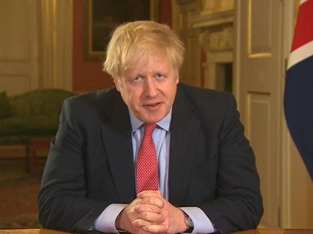 Prime Minister Boris Johnson addresses the nation. Photo: PA