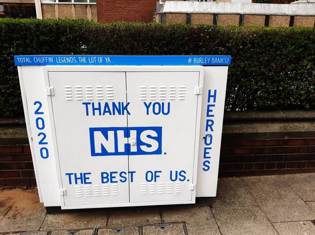 Andy McVeigh, known as the Burley Banksy, has paid tribute to the amazing NHS staff in Leeds who are working hard during the coronavirus pandemic.