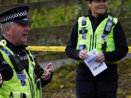 Police and rangers carried out checks on motorists in the vicinity of Aysgarth Falls at the start of the Covid-19 lockdown. Copyright: 2020 Getty Images