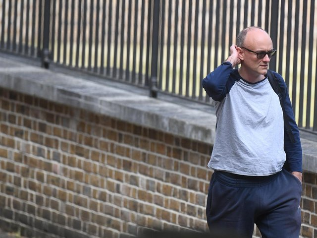 Senior aide to the Prime Minister Dominic Cummings arrives in Downing Street, London, the day after he gave a press conference over allegations he breached coronavirus lockdown restrictions. Photo: PA