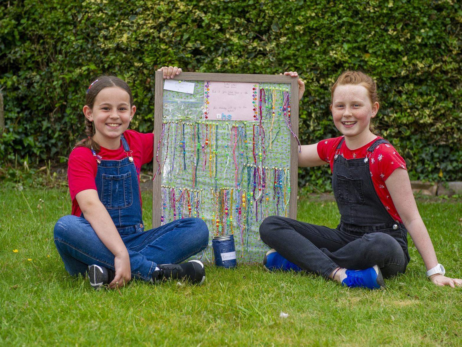 Leeds sisters get crafty in coronavirus lockdown making bracelets for charity