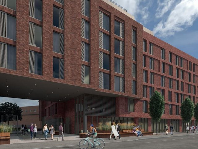 An artist's impression for how the building could look. (Credit: Alumno)