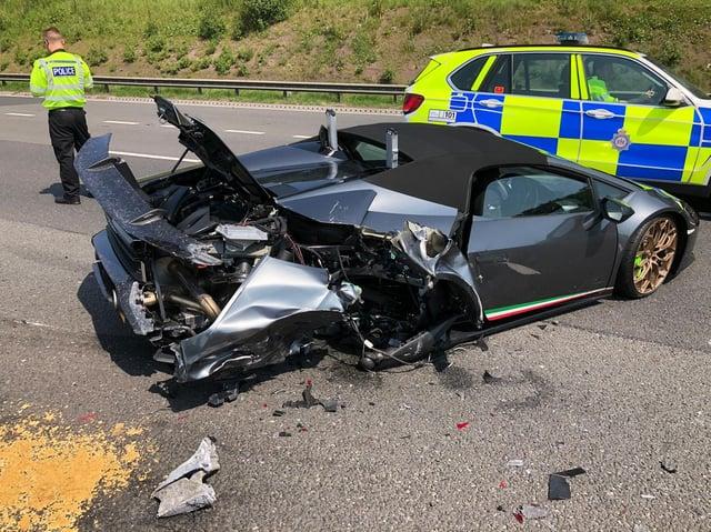 The crash happened on the M1 near Wakefield (Photo: PC Richard Whiteley @jaffa571)