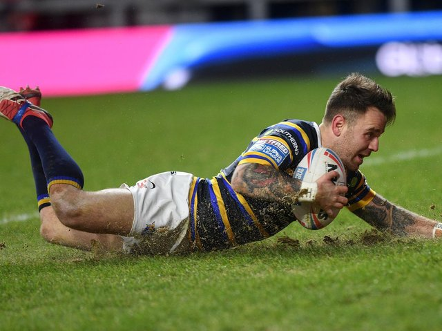Richie Myler scores against Toronto in March. Picture by Jonathan Gawthorpe.