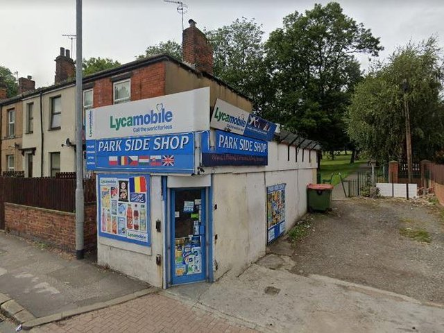 A 15-year-old boy was reportedly stabbed in the Park Side Shop convenience store next to Cross Flatts Park (Photo: Google)