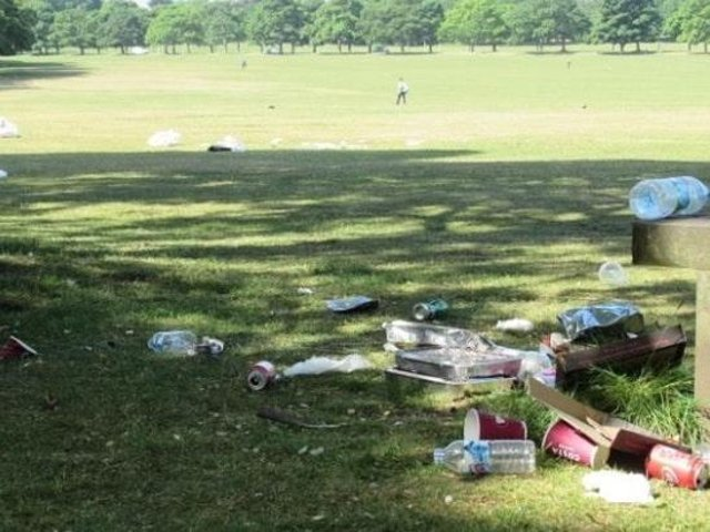 Rubbish left in Roundhay Park. Pic: Friends of Roundhay Park