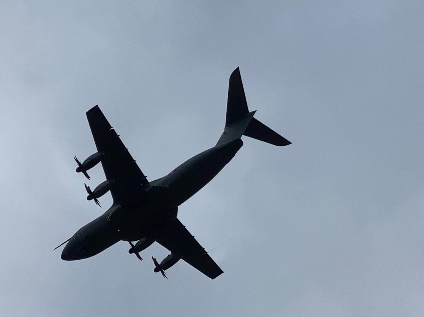 This is why a huge military plane was spotted flying low over Leeds today