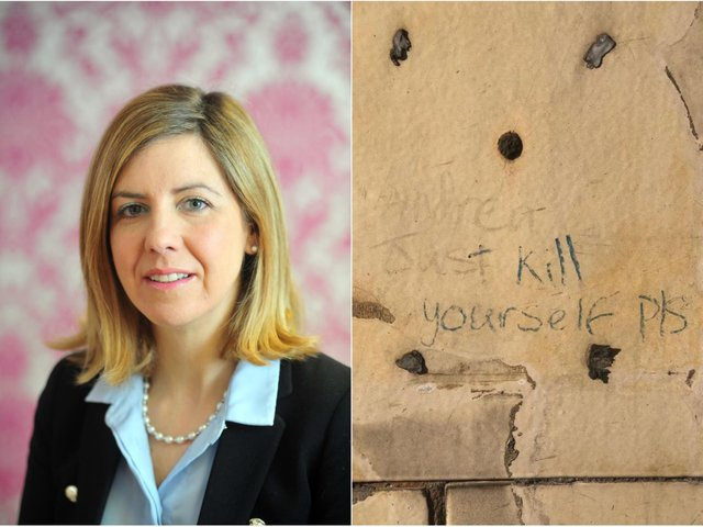 MP Andrea Jenkyns has received violent threats including a message to 'kill herself' at her constituency office