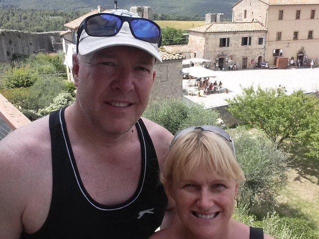 Keith and Jackie in Tuscany before he fell ill.