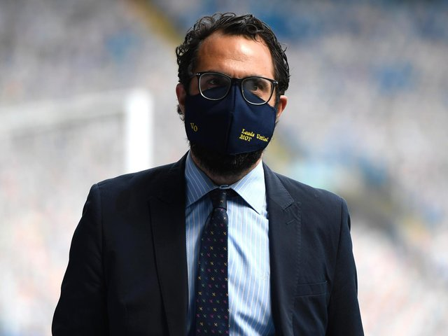 EXCLUSIVE: With Leeds United director of football Victor Orta. Photo by George Wood/Getty Images.