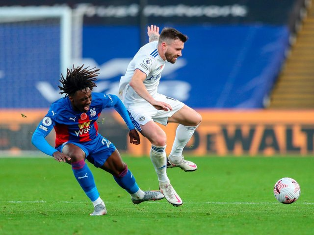 HAMMER BLOW - Leeds United were beaten 4-1 by a Crystal Palace boasting an in-form and in full flight Eberechi Eze. Pic: Getty