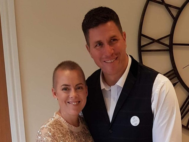 Tammi Morrel Knapton pictured on her wedding day with husband Nick