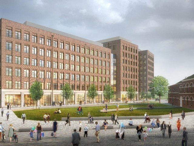 CGI image of the new Aire Park development at The Tetley. Image provdided by Vastint UK.