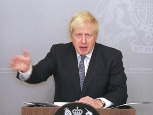Prime Minister Boris Johnson addresses the Commons. Photo: PA