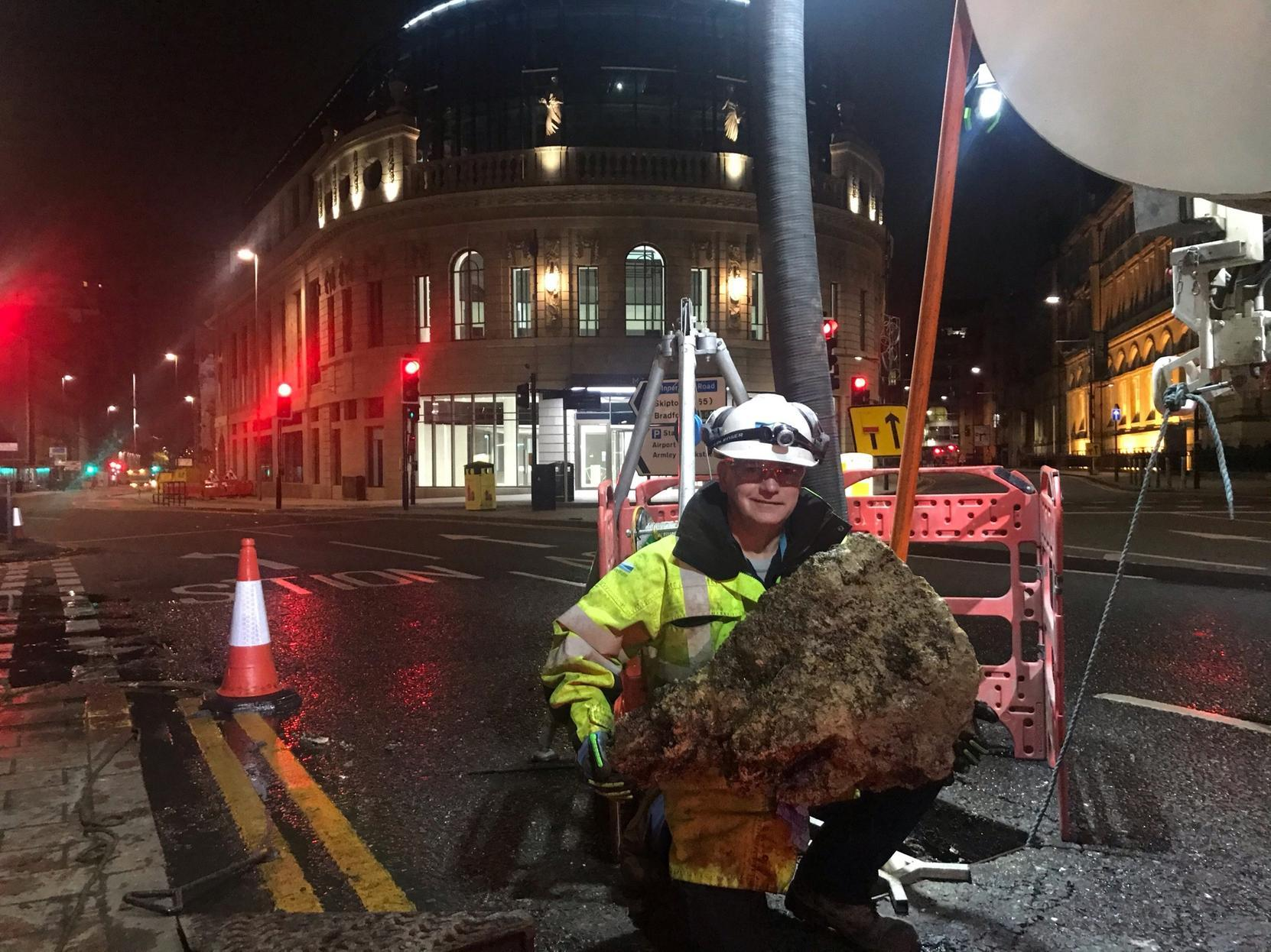 Huge fatberg weighing as much as a Mini Cooper removed from outside Queens Hotel