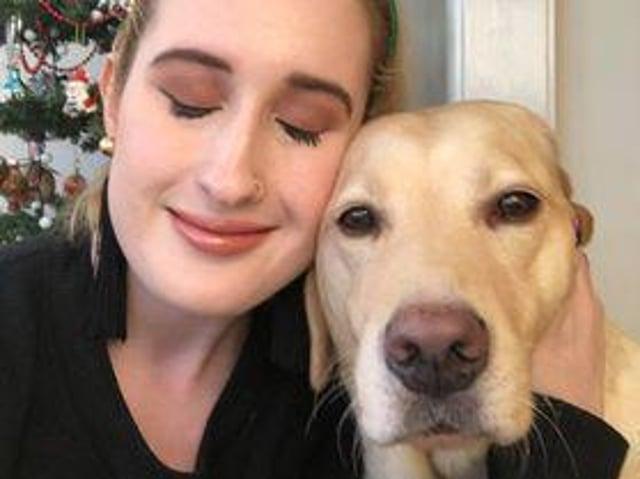 Kimberley Burrows and guide dog, Tami (photo: Kimberley Burrows)