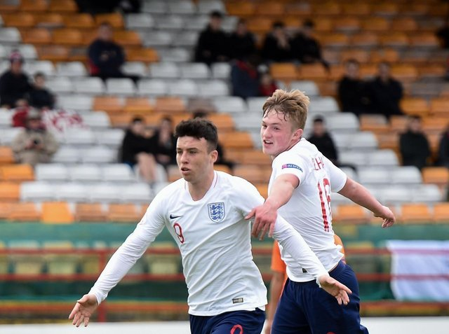 DOUBLE TROUBLE - Sam Greenwood, left and Joe Gelhardt both signed for Leeds United this summer from Arsenal and Wigan Athletic respectively. They have history together with England Under 17s. Pic: Getty