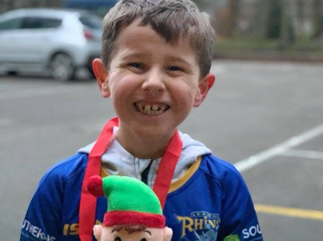 Henry Varley, aged 7, from Yeadon, raised more than £700 for charity after being inspired by Kevin Sinfield's seven marathons in just seven days.
