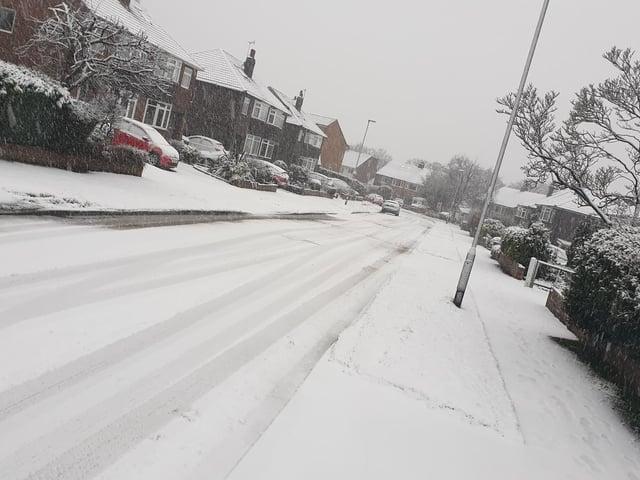 Heavy snow has fallen across Leeds