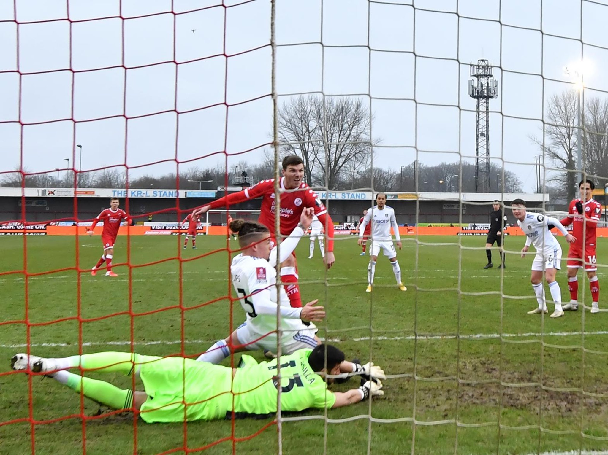 Leeds' FA Cup conquerors Crawley confirm Covid-19 outbreak before fourth round