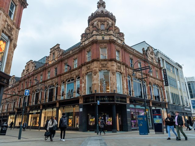 The Debenhams stores on Briggate and in the White Rose Shopping Centre will close permanently