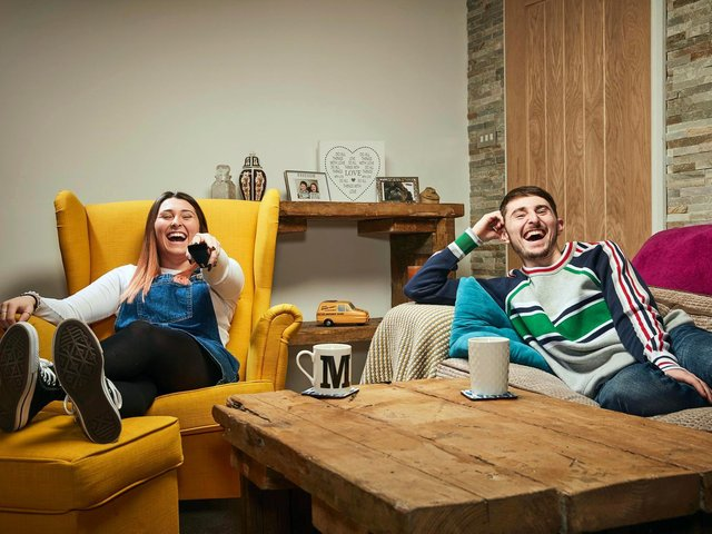 Gogglebox stars Pete and Sophie Sandiford (photo: Channel 4).