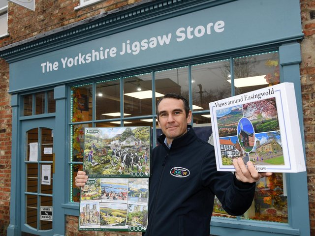 Joe Rushton, 44, from The Yorkshire Jigsaw Store in Easingwold