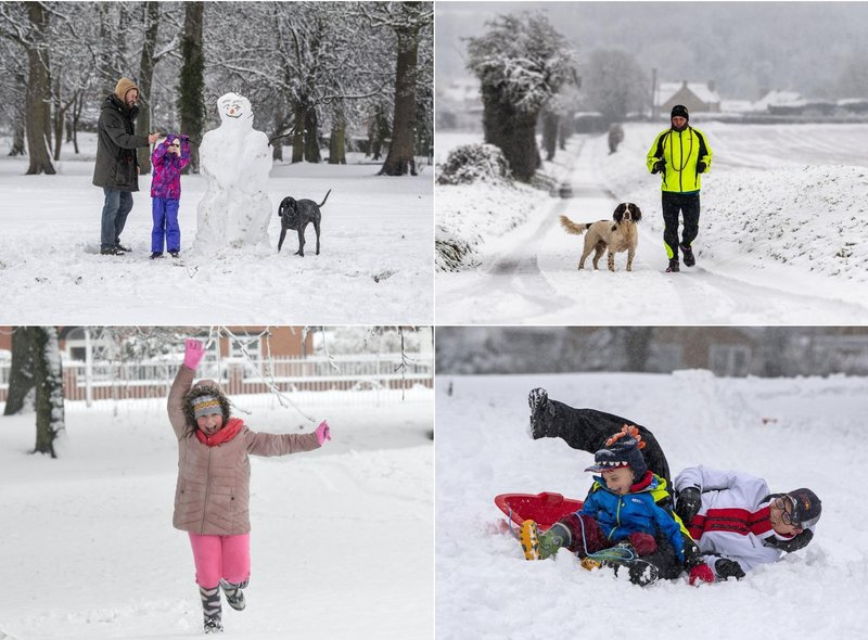 Lots of people have been enjoying the February snow across Yorkshire this Tuesday morning