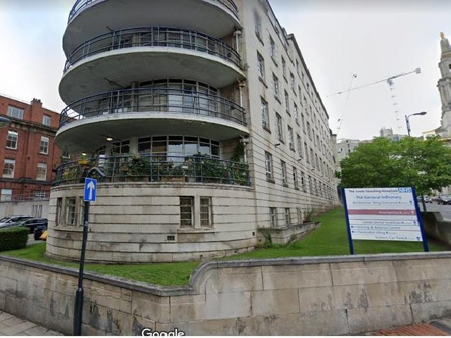 Scott Hedley was arrested after climbing onto the roof of a Leeds General Infirmary building on Portland Street.