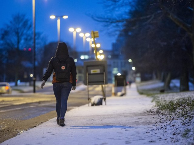 Snow in Hyde Park, Leeds (Photo: SWNS)