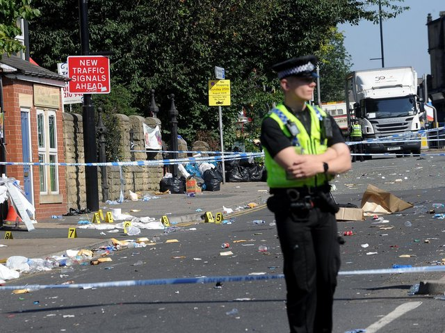 Crime scene on Chapeltown Road the day after the Tcherno Ly was murdered in August 2019.
