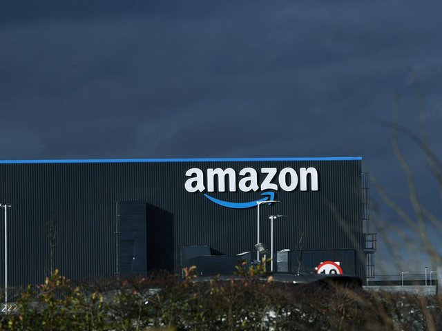 Amazon has a vast £60m complex at the Logic Leeds Distribution Park in east Leeds. Picture: Jonathan Gawthorpe