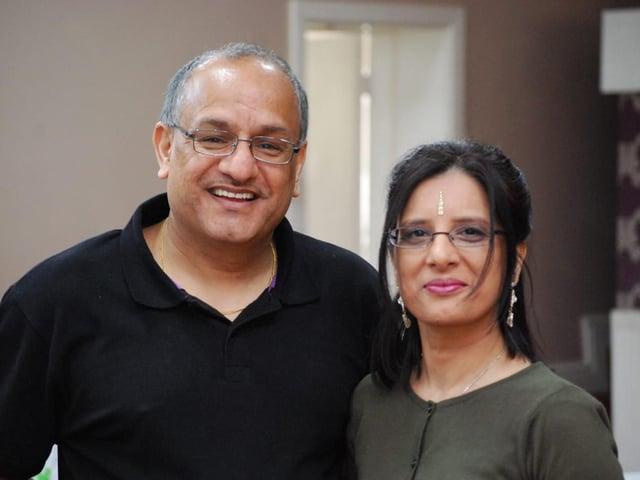 Raj Rayit and his wife Rajinder.